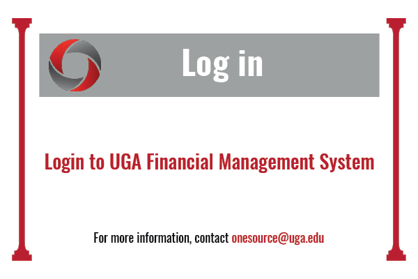Log in to UGA Financial Management System